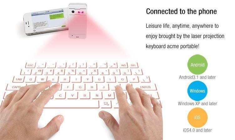 تكنولوجيا لوحات المفاتيح الليزر أصبحت حقيقية و متاحة علي أمازون