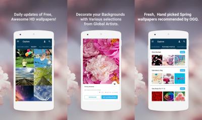 مجموعة من أفضل تطبيقات الخلفيات المتواجدة علي متجر جوجل بلاي
