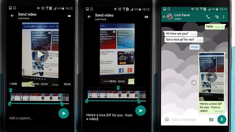 كيفية تحويل مقاطع الفيديو في الواتس أب الي صور بصيغة ال GIF