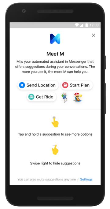 تطبيق المحادثة الشهير فيس بوك ماسنجر يطلق مساعد ذكي جديد بأسم M
