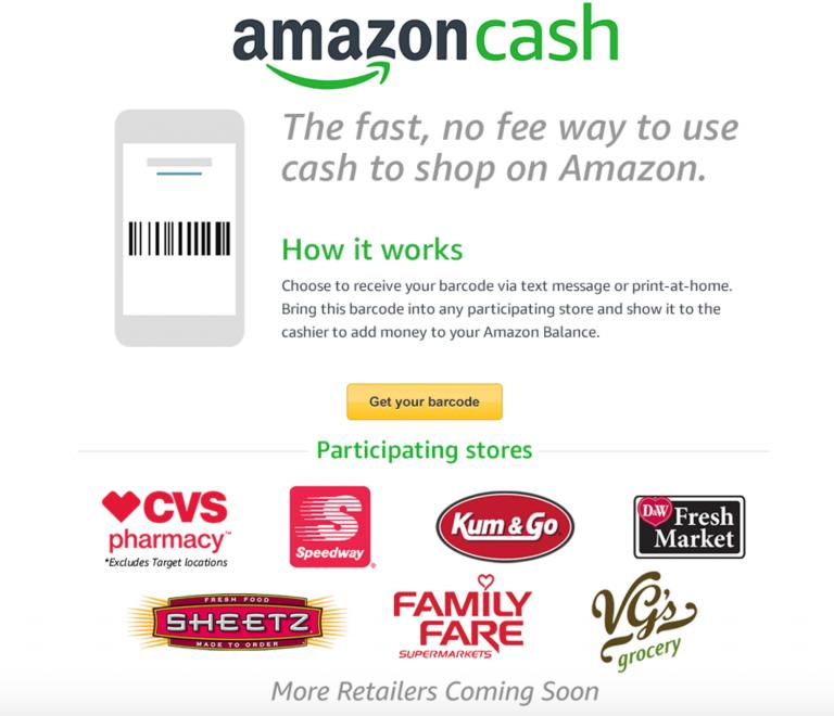 أمازون تتيح اماكنية الدفع النقدي لمن لا يملكون بطاقات الأئتمان تعرف علي التفاصيل