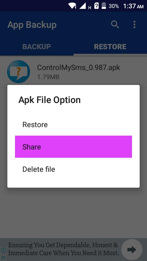 مراجعة تطبيق App Backup & Restore لأرسال التطبيقات و عمل نسخة أحتياطية