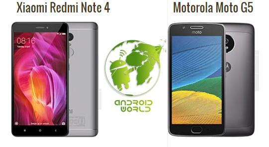 أفضل هاتفين في فئة ال 3000 جنيه مصري ( موتو G5 و شاوميريدمي نوت 4 )