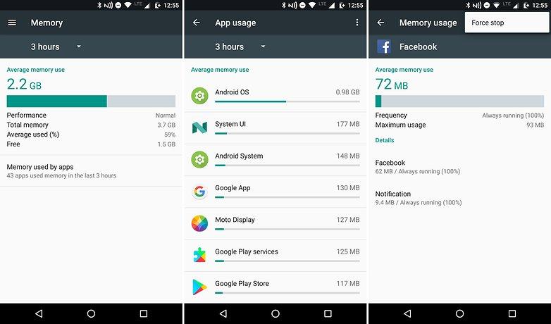 كيف تقوم بأدارة الذاكرة العشوائية في هاتفك لتوفير المساحة التخزينية