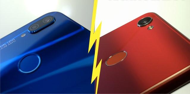 مقارنة بين هاتف Huawei P20 lite و Oppo F7