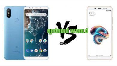 مقارنة تفصيلية بين هاتف Xiaomi A2 و Xiaomi Redmi Note 5 ومزايا وعيوب كل منهم